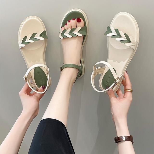 【K.W.】獨賣夏日時光涼鞋-涼鞋/涼跟鞋(共2色)