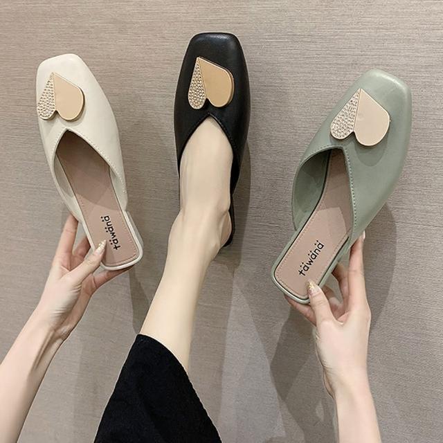【K.W.】獨賣好感輕著懶人鞋-涼鞋/涼跟鞋/懶人鞋/穆勒鞋(共3色)