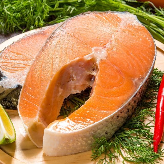 【鮮綠生活】超厚智利鮭魚切片(330g±10%/片 共9片)