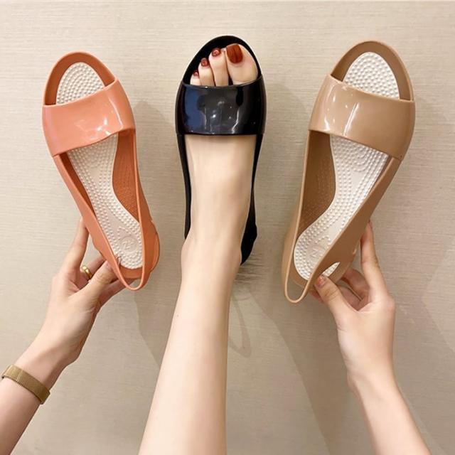 【K.W.】獨賣閃耀厚底涼鞋-涼鞋/涼跟鞋(共3色)