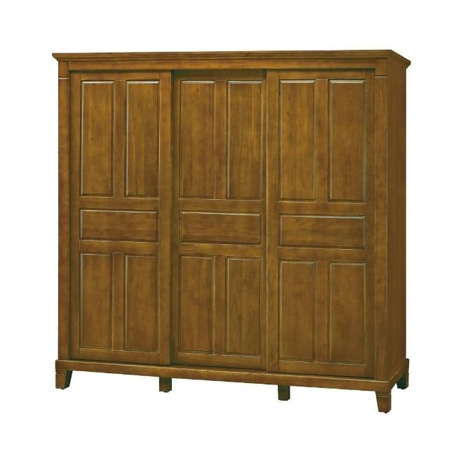 【MUNA 家居】巴比倫黃檀實木7X7尺衣櫥(衣櫥 衣櫃 收納櫃 櫥櫃)