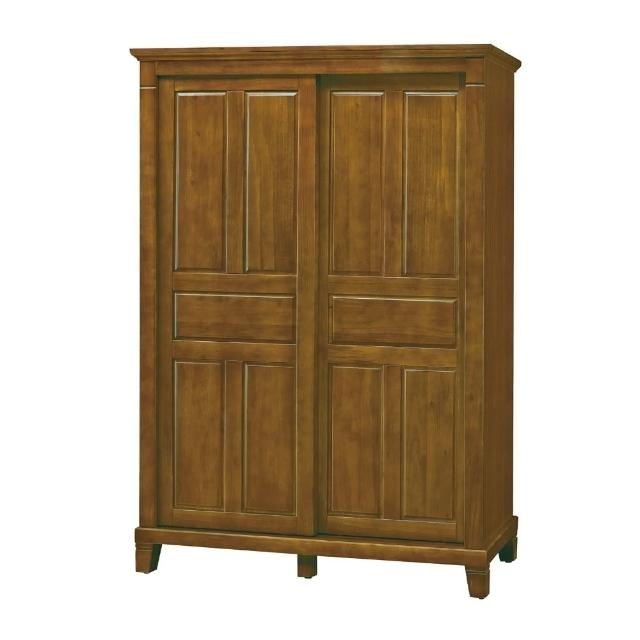 【MUNA 家居】巴比倫黃檀實木5X7尺衣櫥(衣櫥 衣櫃 收納櫃 櫥櫃)