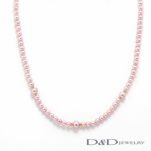 【D&D JEWELRY】日系優雅天然珍珠串鏈(紫珠)