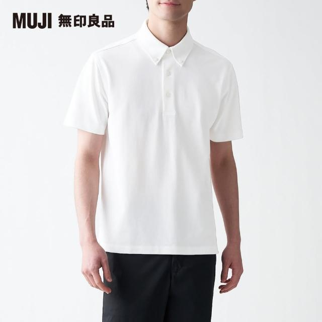 【MUJI 無印良品】男有機棉強撚鹿子織扣領短袖POLO衫(共5色)
