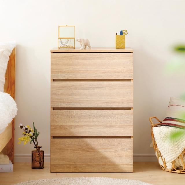 【IRIS】木製收納櫃/斗櫃 WCH-590(簡約/收納/美觀/4段/4層/抽屜式)