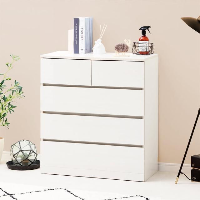 【IRIS】木製收納櫃/斗櫃 WCH-790(簡約/加大收納/美觀/4層5格/抽屜式)