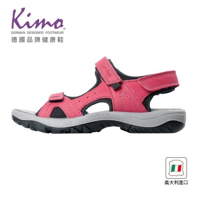 【Kimo】義大利製造舒適牛皮涼鞋 女鞋(緋紅 7090003006)