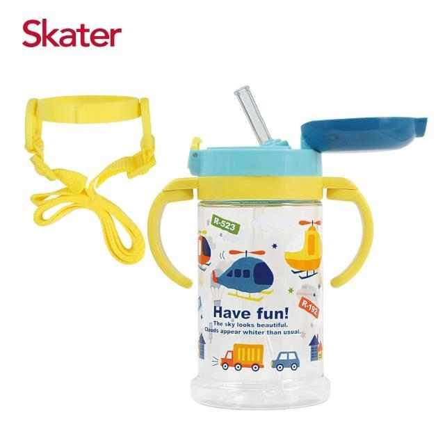 【Skater】寬底吸管杯-370ml(直升機)