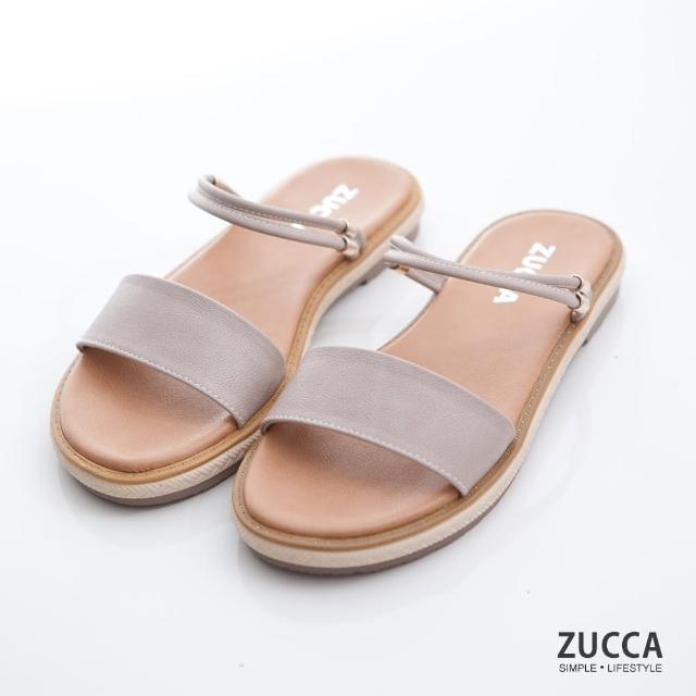 【ZUCCA&bellwink】繞帶多穿式平底涼鞋z7002we-白色