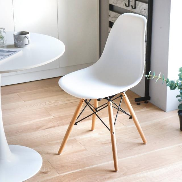 【PEACHY LIFE 完美主義】北歐復刻360度旋轉餐椅/休閒椅/書桌椅-1入(二色可選)