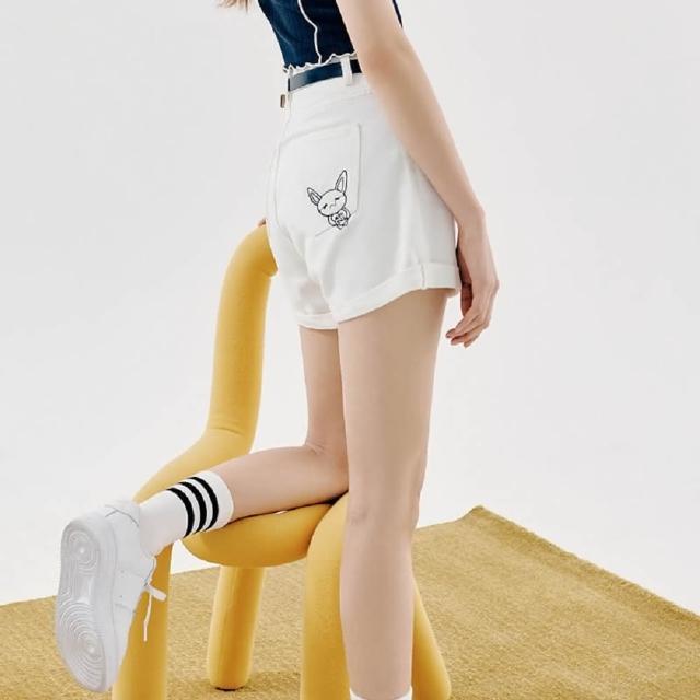 【創翊韓都】短褲高腰刺繡質感牛仔短褲UF0118創翊韓都(預購)