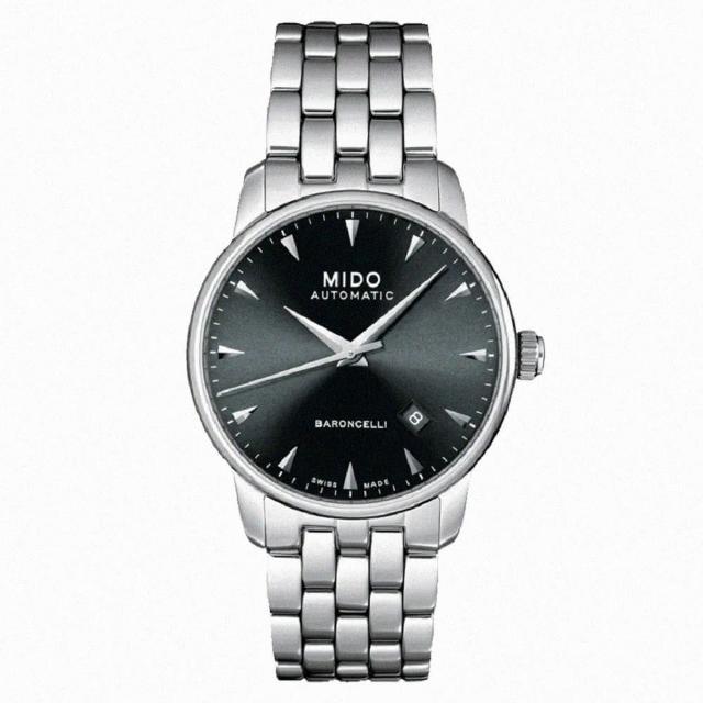 【MIDO 美度】BARONCELLI紳士腕錶/鋼帶款(M86004181/38mm)