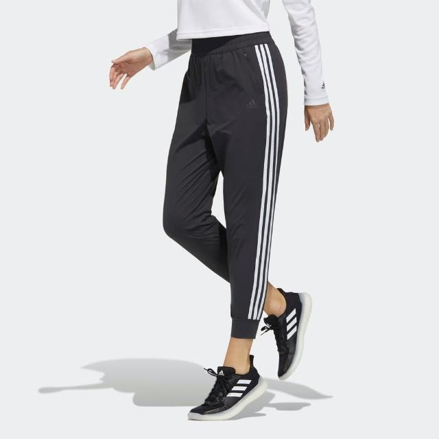【adidas 愛迪達】Adidas Mh Pt Woven 女 長褲 運動 休閒 輕薄 舒適 透氣 縮口 黑(GP0642)