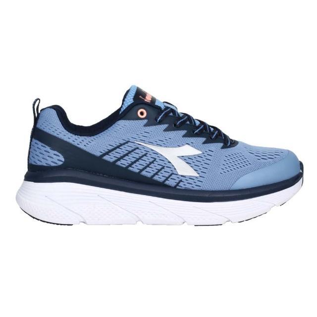 【DIADORA】女專業避震慢跑鞋-路跑 運動 避震 藍銀(DA31637)