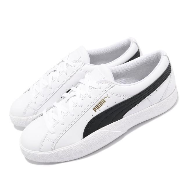 【PUMA】休閒鞋 Love 復古 板鞋 女鞋 基本款 皮革鞋面 百搭 穿搭推薦 白 黑(37210408)