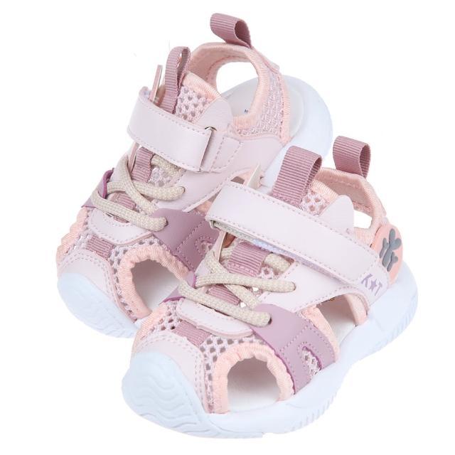 【布布童鞋】粉紅色寶寶透氣運動護趾涼鞋(L1G66PG)