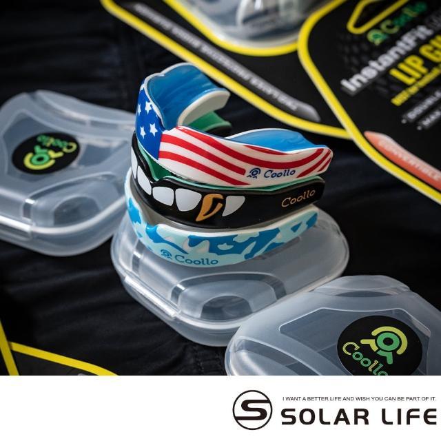 【索樂生活】谷樂Coollo 專業運動牙套護齒器-DA印刷款(可塑型護牙套雙層防磨牙EVA護齒套拳擊籃球附收納盒)