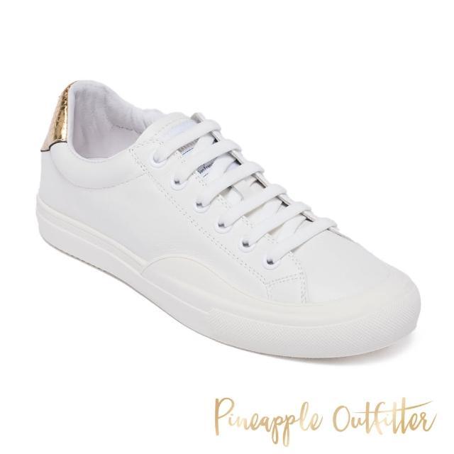 【Pineapple Outfitter】KAMELA 真皮舒適百搭小白鞋(蛇皮金)