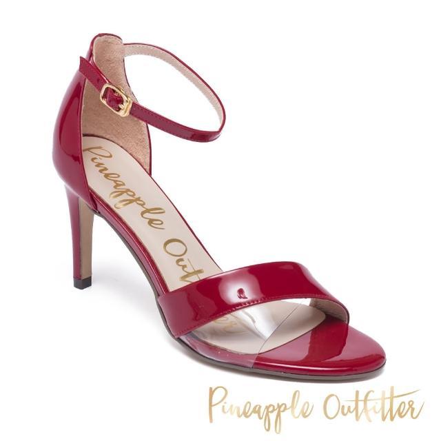 【Pineapple Outfitter】ILYSSA 真皮一字繫帶高跟涼鞋(鏡紅)