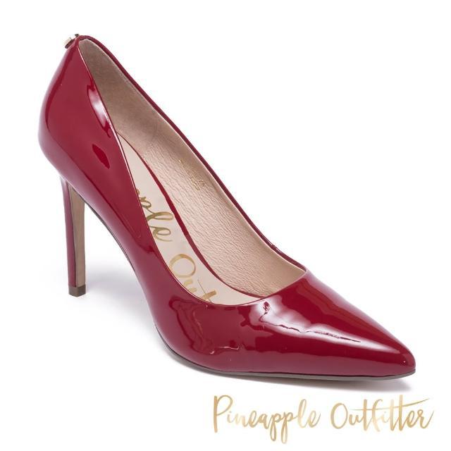 【Pineapple Outfitter】GABRIELA 羊皮素面尖頭高跟鞋(鏡紅)
