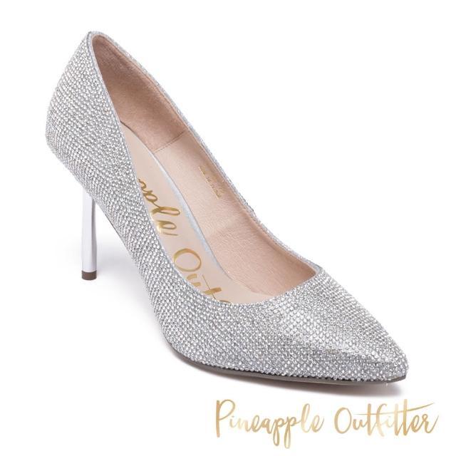 【Pineapple Outfitter】GAYORA 經典全鑽尖頭高跟鞋(銀色)