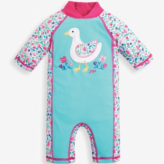 【JoJo Maman BeBe】嬰幼兒/兒童連身式防曬泳裝_鴨子戲水(JJ-E5370)