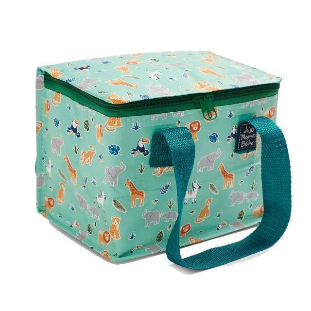 【JoJo Maman BeBe】防水多功能便當袋/食物袋/用品袋/萬用袋_動物世界(JJE7580)