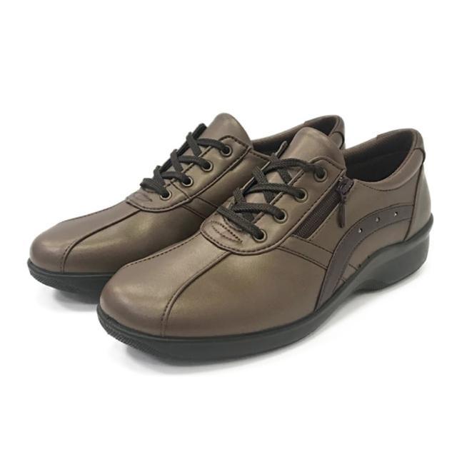 【MOONSTAR 月星】呵護系列女鞋(古銅)