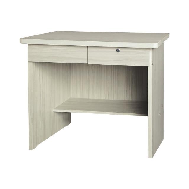 【BODEN】亞傑3尺二抽書桌/工作桌(雪杉色)