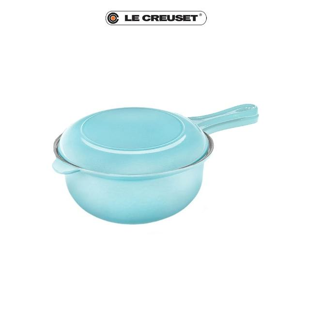 【Le Creuset】琺瑯鑄鐵多功能燉煮鍋22cm(亮藍)