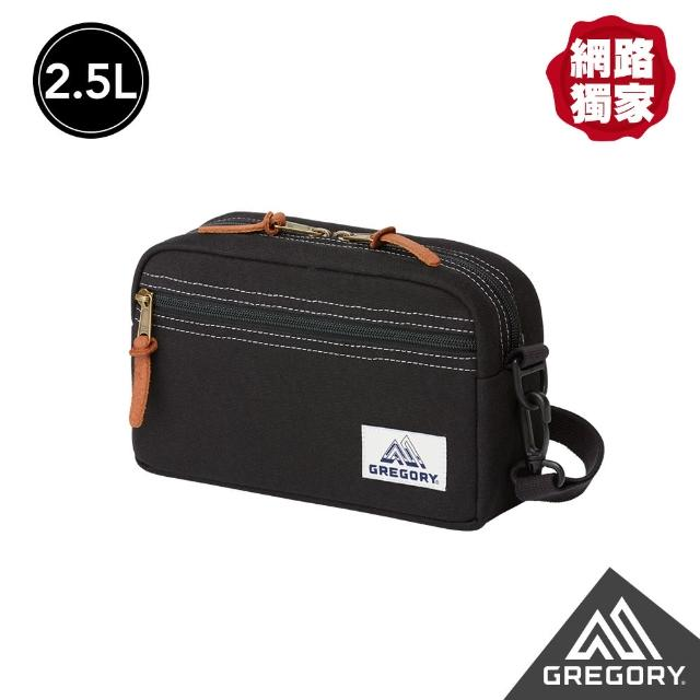 【Gregory】2.5L PAD SHLD POUCH CANV斜背包(黑)