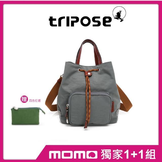 【tripose】漫遊系列岩紋手提斜背水桶包+零錢包(多組任選)