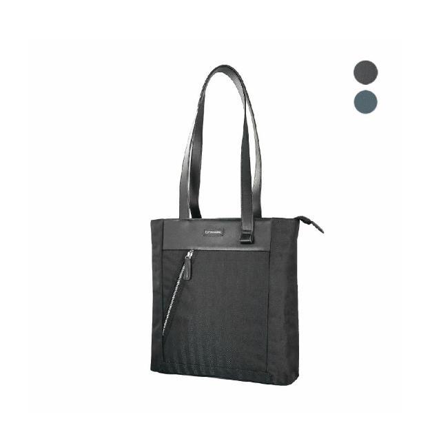 【Crocodile】鱷魚皮件 布配皮 直式托特包 肩背包-0104-09905-原廠公司貨(Snapper 3.0系列)