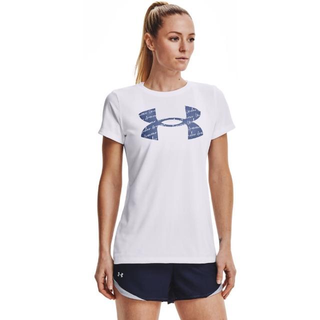 【UNDER ARMOUR】UA 女 Tech短T-Shirt_1365143-100(白)