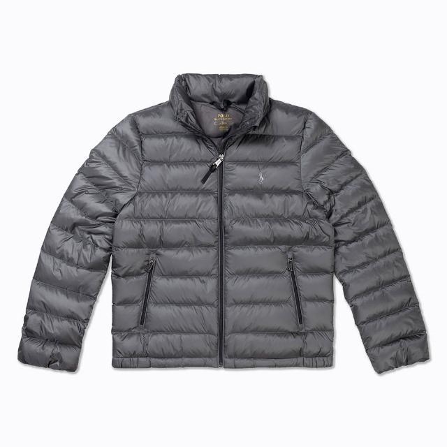【RALPH LAUREN】Polo Ralph Lauren 年度熱銷防風防潑水保暖立領羽絨外套-女-亮灰色