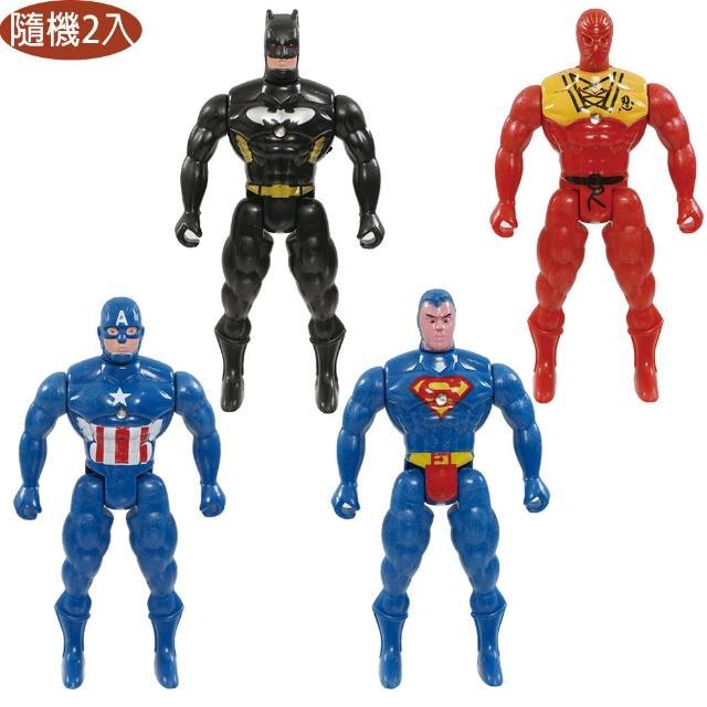 【TDL】漫威英雄鋼鐵人美國隊長蝙蝠俠超人模型公仔人偶收藏玩具隨機2入組 560085