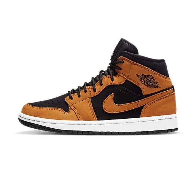 【NIKE 耐吉】Air Jordan 1 MID SE 女鞋 黑棕 中筒 麂皮 運動鞋 休閒鞋 DB5453-700