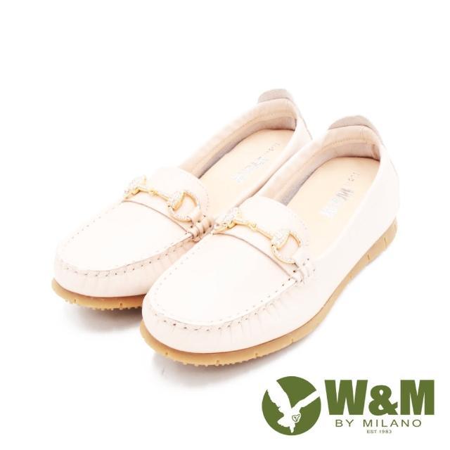 【W&M】女 心機內增高馬銜釦樂福鞋 女鞋(裸粉)