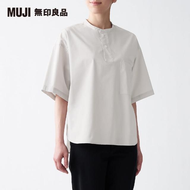 【MUJI 無印良品】女棉混彈性短袖套衫(共6色)