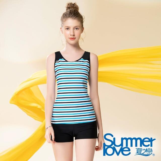【Summer Love 夏之戀】泳衣 大尺碼長版二件式(S21704)