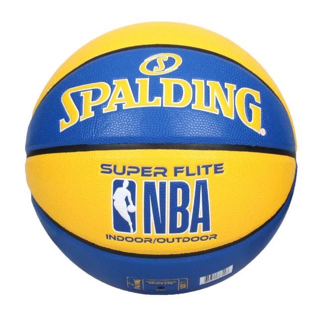 【SPALDING】NBA SUPER FLITE系列#7號合成皮籃球-7號球 斯伯丁 藍黃(SPA76350)
