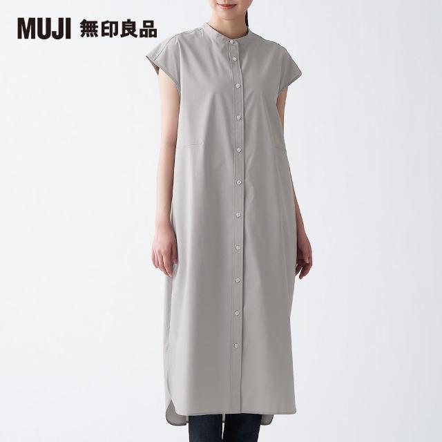 【MUJI 無印良品】女棉混彈性法式袖洋裝(共5色)