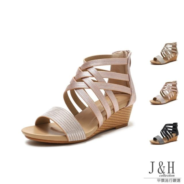 【J&H collection】經典復古露趾高跟羅馬涼鞋(現+預 金色 / 香檳金 / 黑色)