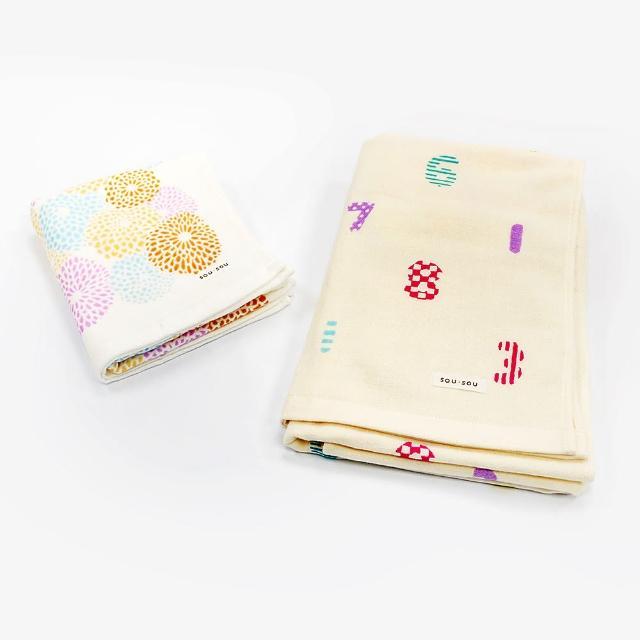 【Marushin 丸真】SOU SOU京都新和風毛浴巾禮盒(丸真)