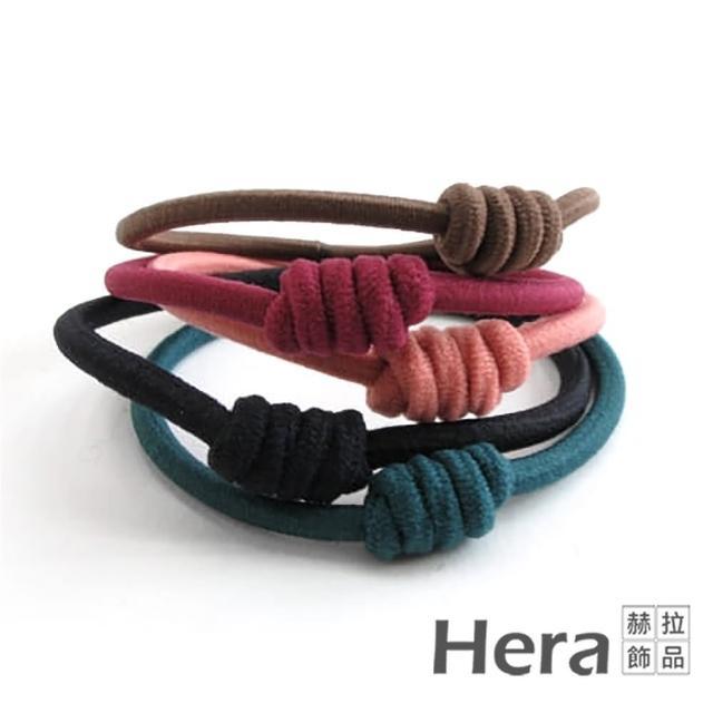 【HERA 赫拉】赫拉 純色彈力扭結二用手圈/髮圈/髮束(5入組)