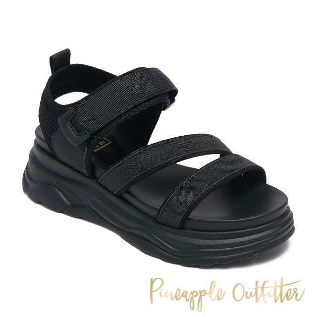 【Pineapple Outfitter】LOANNIS 亮鑽魔鬼氈厚底涼鞋(黑色)