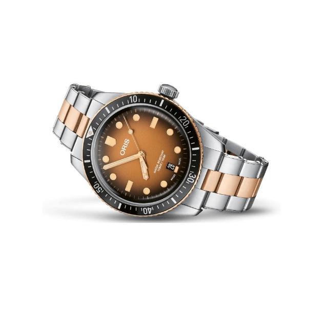 【ORIS 豪利時】DIVERS SIXTY-FIVE 青銅潛水自動上鍊機械錶/40mm(0173377074356-0782017)