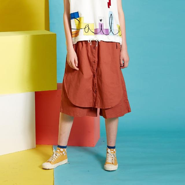 【Dailo】造型口袋寬版-女短褲(二色/版型適中)