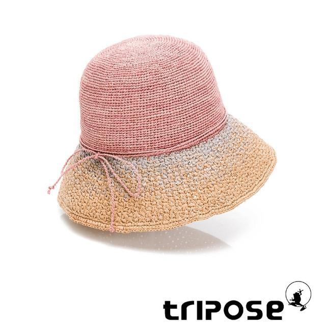 【tripose】MIA 手工Raffia漸層拉菲草帽 帽簷8cm(粉色)