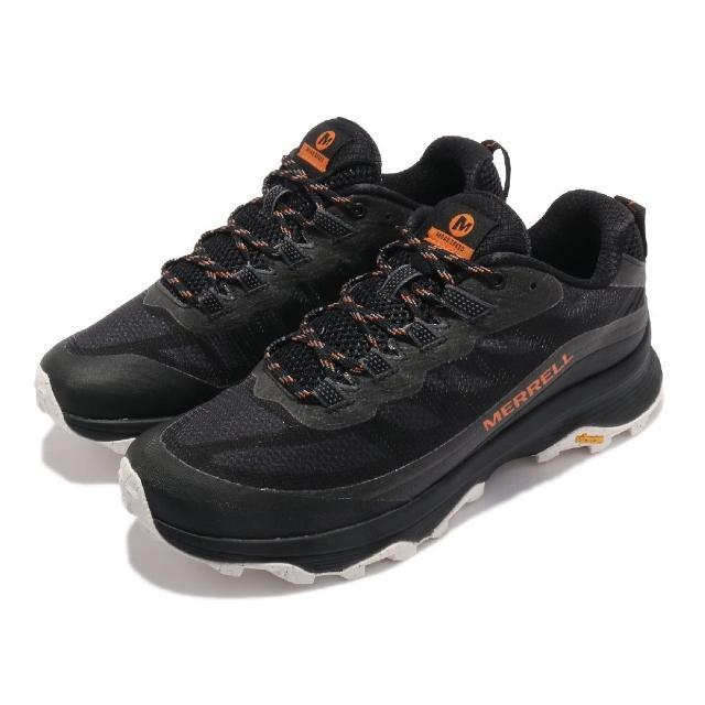 【MERRELL】戶外鞋 Moab Speed 男鞋 登山 越野 耐磨 黃金大底 保護 緩衝 黑 橘(ML135399)